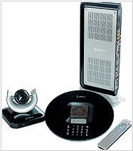 LifeSize Room включает базовый блок, пульт дистанционного управления, видеокамеру и телефон