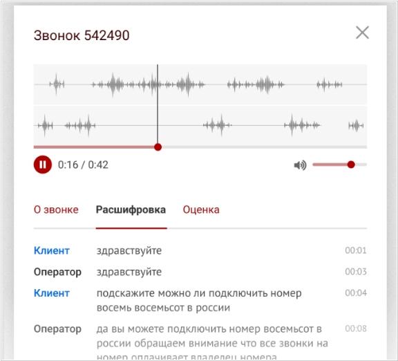 В Zadarma появилось распознавание речи с бесплатной речевой аналитикой